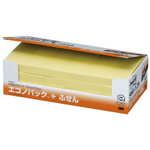 3M 5001-Y20 ポストイット付箋 エコノパック イエロー