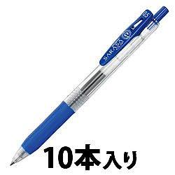 ゼブラ JJ15-BL ノック式ジェルボールペン サラサクリップ 0.5mm 青 1パック=10本