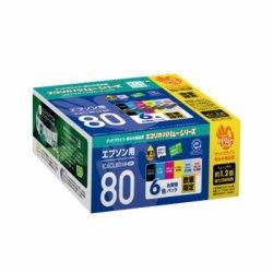 エコリカ ECI-E80V-6P リサイクルインク 6色パック