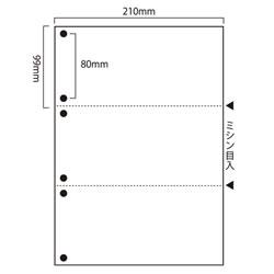 汎用マルチプリンタ帳票 SW-W36H 白紙 A4 3分割 6穴