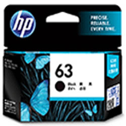 HP F6U62AA HP63 インクカートリッジ 黒