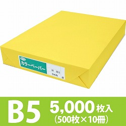 サクラカラーペーパー B5判 厚口 黄色