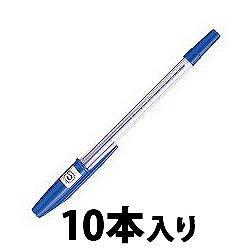 三菱鉛筆 SAR10P.33 油性リサイクルボールペン 0.7mm 青 業務用パック