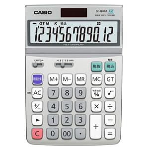 CASIO DF-120GT-N エコマーク付電卓 12桁 デスクタイプ シルバー