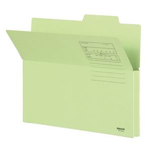 コクヨ A4-CFG 持ち出しフォルダー(カラー) A4 緑 10冊