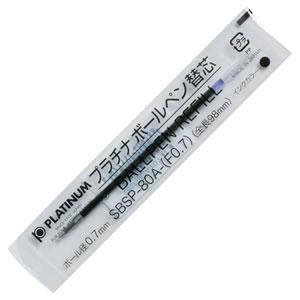 プラチナ SBSP-80A(F07)#1 油性ボールペン替芯(なめらかインク) 0.7mm 黒