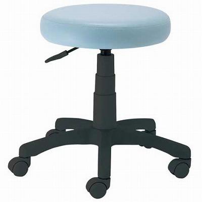 作業用丸椅子 ブルー