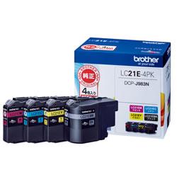 BROTHER LC21E-4PK インクカートリッジ お徳用4色パック
