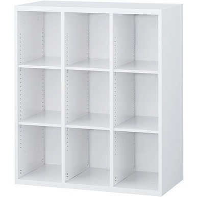 RW4-310K 3列オープン書庫(上下兼用) ホワイト