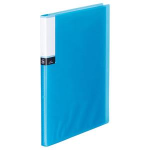 TPCBA4-24B クリアブック(透明表紙) A4タテ 24ポケット 背幅15mm ブルー 1冊