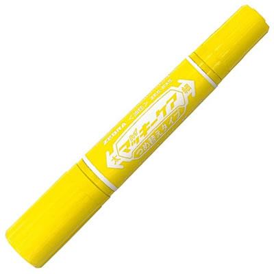 ゼブラ YYT5-Y 油性マーカー ハイマッキーケア つめ替えタイプ 太字+細字 黄