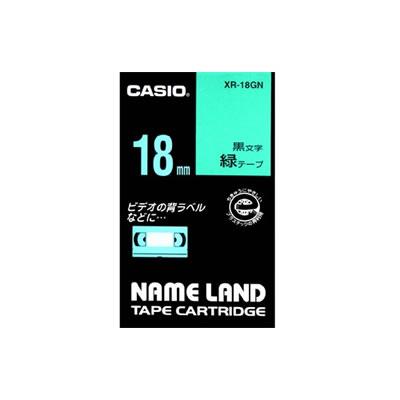 CASIO XR-18GN スタンダードテープ 18mm 緑 黒文字