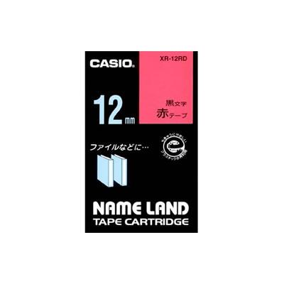CASIO XR-12RD スタンダードテープ 12mm 赤 黒文字