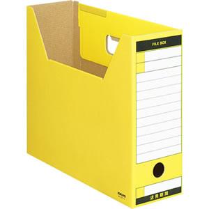 コクヨ A4-LFT-Y ファイルボックス−FS(Tタイプ) A4ヨコ 背幅102mm 黄 A4