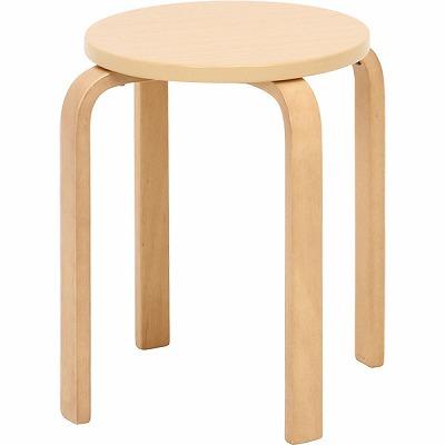 木製丸椅子 ナチュラル 6脚セット