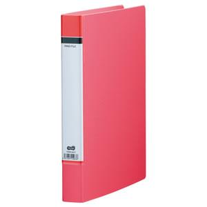 TORH-A4-P Oリングファイル(貼り表紙) A4タテ 2穴 200枚収容 背幅40mm ピンク 1冊