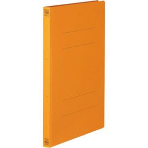 PLUS No.021Nオレンジ フラットファイル 樹脂とじ具 A4タテ 150枚収容 背幅18mm オレンジ