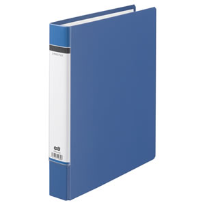 TDRU-A4-B Dリングファイル(貼り表紙) A4タテ 2穴 320枚収容 背幅50mm 青
