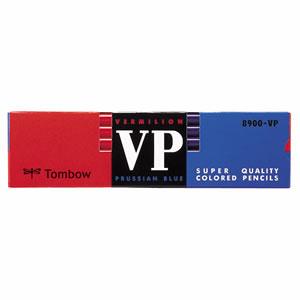 トンボ 8900-VP 赤青鉛筆 (朱藍)
