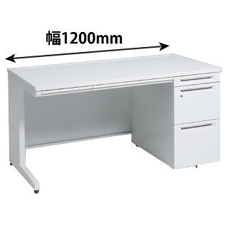 オカムラ 3V16AJ-MK28 片袖机 ホワイト