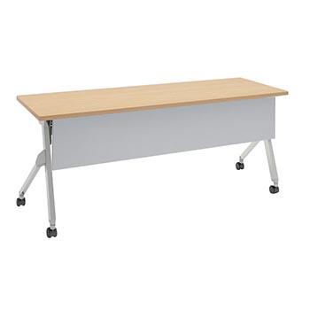 平行スタックテーブル 幅1800×奥行600mm 棚板付 幕板付 ネオウッドライト