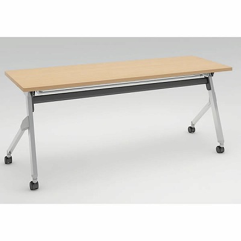 平行スタックテーブル 幅1800×奥行600mm 棚板付 幕板なし ネオウッドライト