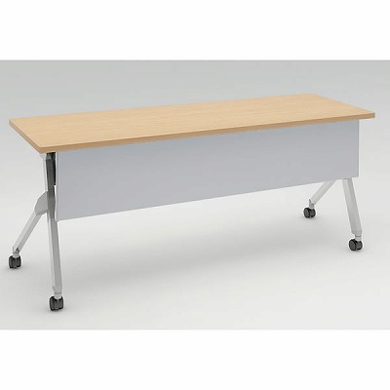 平行スタックテーブル 幅1800×奥行600mm 棚板なし 幕板付 ネオウッドライト