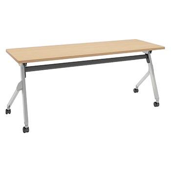 平行スタックテーブル 幅1800×奥行600mm 棚板なし 幕板なし ネオウッドライト