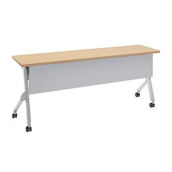 平行スタックテーブル 幅1800×奥行450mm 棚板付 幕板付 ネオウッドライト