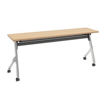 平行スタックテーブル 幅1800×奥行450mm 棚板付 幕板なし ネオウッドライト