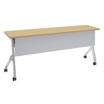 平行スタックテーブル 幅1800×奥行450mm 棚板なし 幕板付 ネオウッドライト