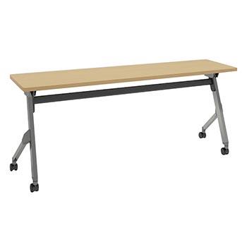 平行スタックテーブル 幅1800×奥行450mm 棚板なし 幕板なし ネオウッドライト