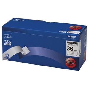 ブラザー TZE-261V ピータッチ TZeテープ ラミネートテープ 36mm 白/黒文字 業務用パック