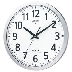 シチズン 8MY462-019 電波掛時計 シルバーメタリック(白)