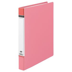 TDRH-A4-P Dリングファイル(貼り表紙) A4タテ 2穴 210枚収容 背幅40mm ピンク 1冊