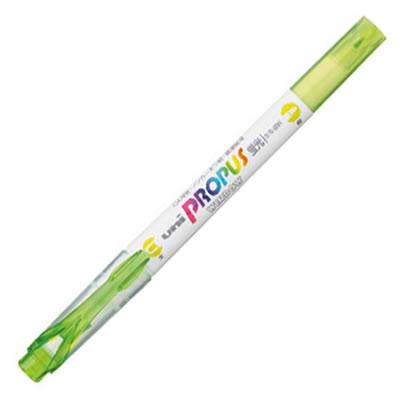 三菱鉛筆 PUS102T.5 蛍光ペン プロパス ウインドウ ソフトカラー ライム