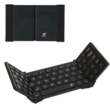 3E 3E-BKY8OF-BK Bluetooth Keyboard 【TRI】 3つ折りタイプ ブラック ケース付属