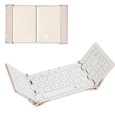 3E 3E-BKY8OF-WH Bluetooth Keyboard 【TRI】 3つ折りタイプ ホワイト ケース付属