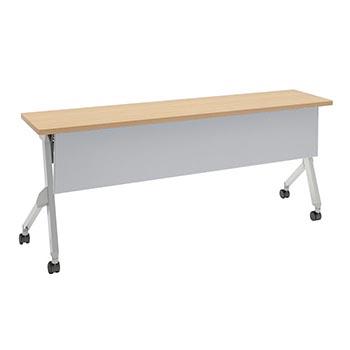平行スタックテーブル 幅1800×奥行400mm 棚板付 幕板付 ネオウッドライト
