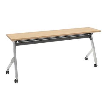 平行スタックテーブル 幅1800×奥行400mm 棚板付 幕板なし ネオウッドライト