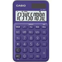 CASIO SL-300C-PL-N カラフル電卓 パープル