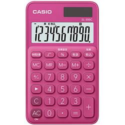 CASIO SL-300C-RD-N カラフル電卓 ビビットピンク