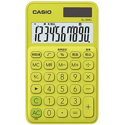 CASIO SL-300C-YG-N カラフル電卓 ライムグリーン