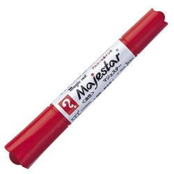 寺西化学 MMJ50-T2 油性マーカー マジックインキ マジェスター 太字+細字 赤 10本セット