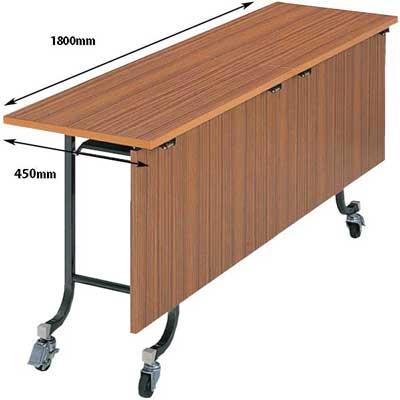 フライトテーブル 幕板付き チーク 奥行450mm