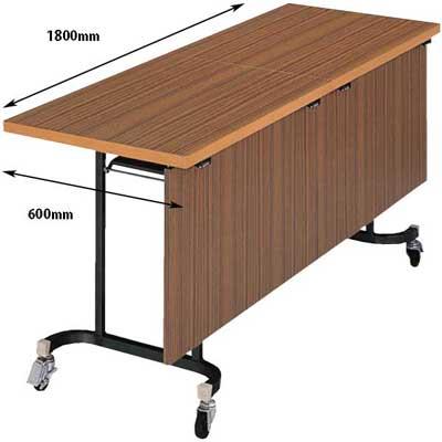フライトテーブル 幕板付き チーク 奥行600mm