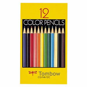 トンボ CQ-NA12C 色鉛筆 紙箱 12色(各色1本)
