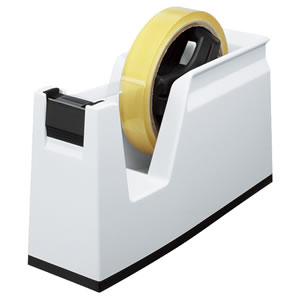 コクヨ T-SM100W テープカッター カルカット 大巻・小巻両用 白
