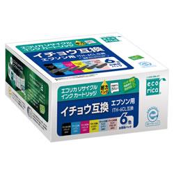エコリカ ECI-EITH-6P リサイクルインク 6色BOX