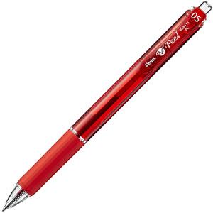 ペンテル BXB115-B 油性ボールペン ビクーニャ フィール 0.5mm 赤